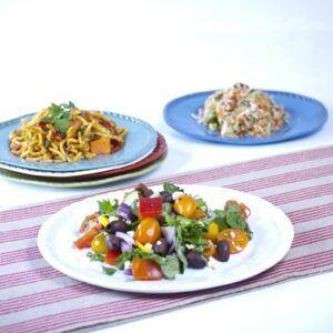 Assorted salads plate