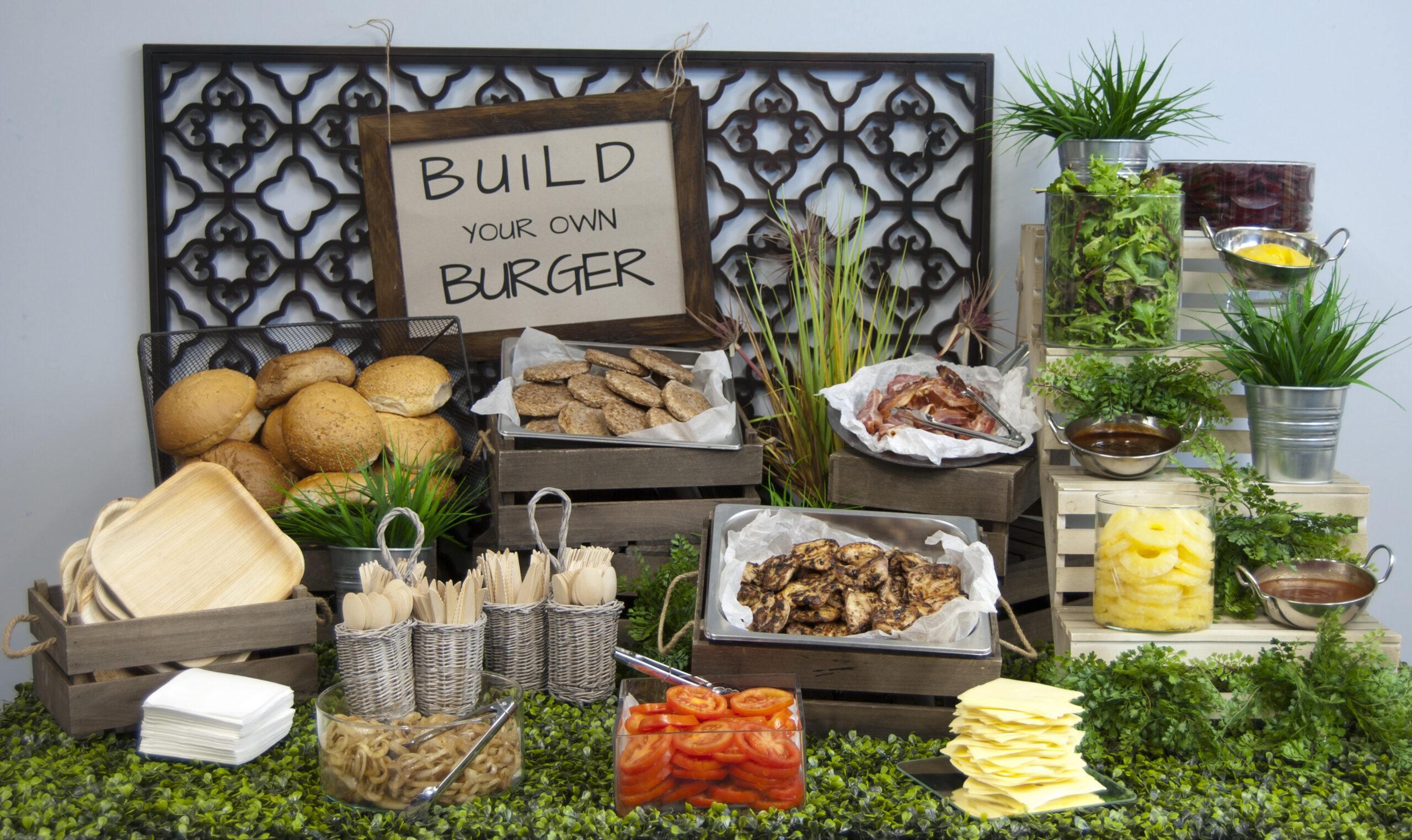 Build Your Own Burger Bar - Comfort Food
