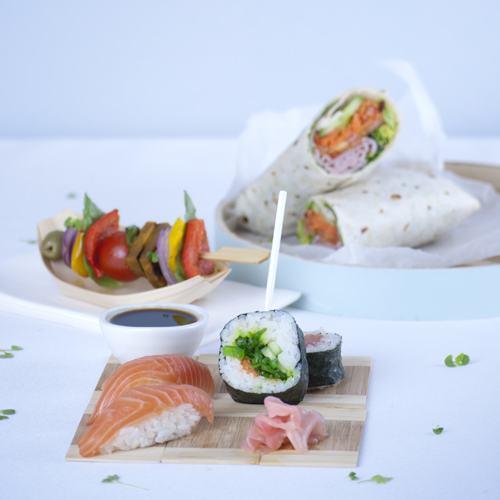 Sushi Antipasto Skewer Wraps