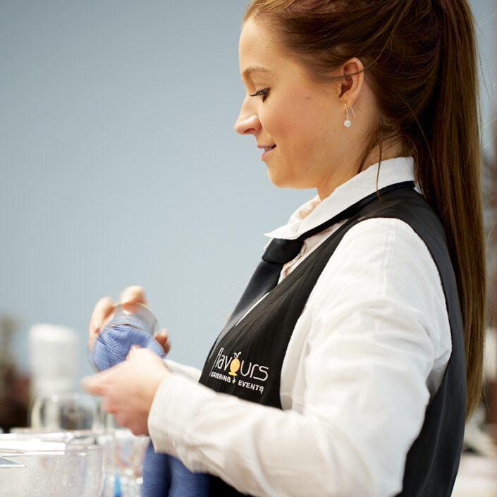 Senior event waiter