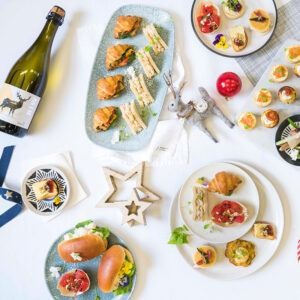 Christmas Cocktail Party options including canapes and beverages