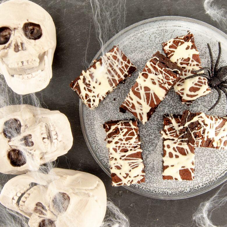 Cob web brownies