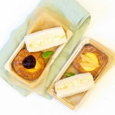 Duo pack K – Egg finger sandwich + Danish pastry