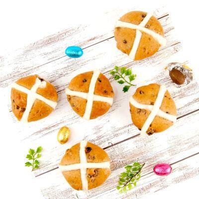 Gluten Free Hot Cross Buns – Each
