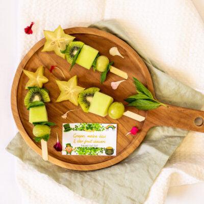 All Green Fruit Skewers