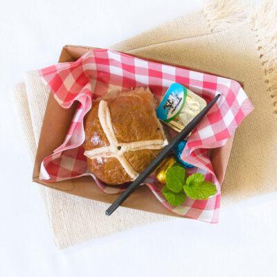 Hot cross bun singles – Gluten free, Dairy free & Vegan