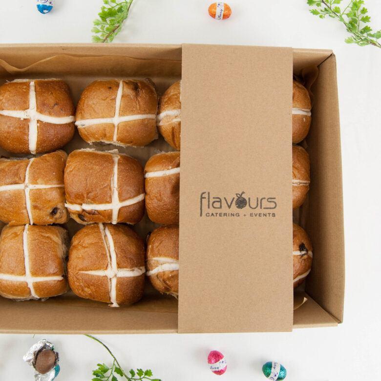 Traditional Fruit Hot Cross Buns – Dozen