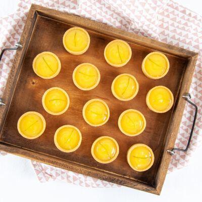 Petite lemon curd tarts