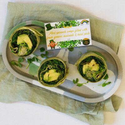 Mini Spinach Wraps