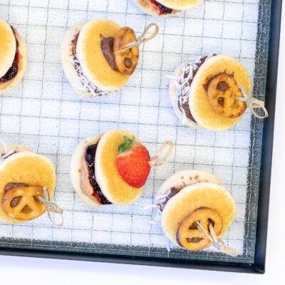 Pint sized pancake stacks