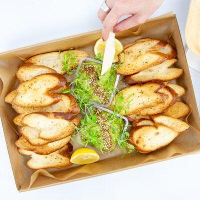 Smashed avocado toast box