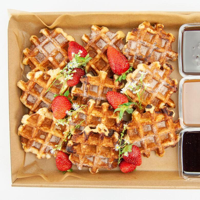 Belgian waffles box
