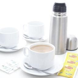 Freshly Brewed Tea + Coffee