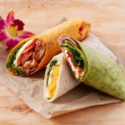 Wellbeing wraps - vegetarian