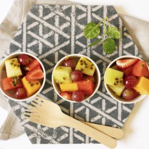 Vegan fruit cups