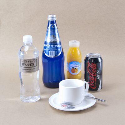 Juice, water & soft drink