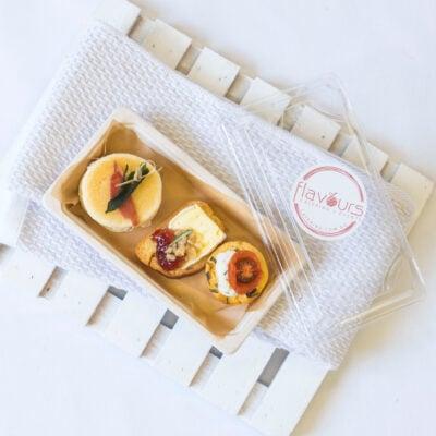 Canape pack 6 - Blini slider, frittata + brioche toast