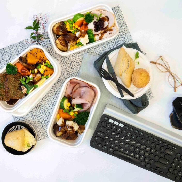Individual Christmas hot meals