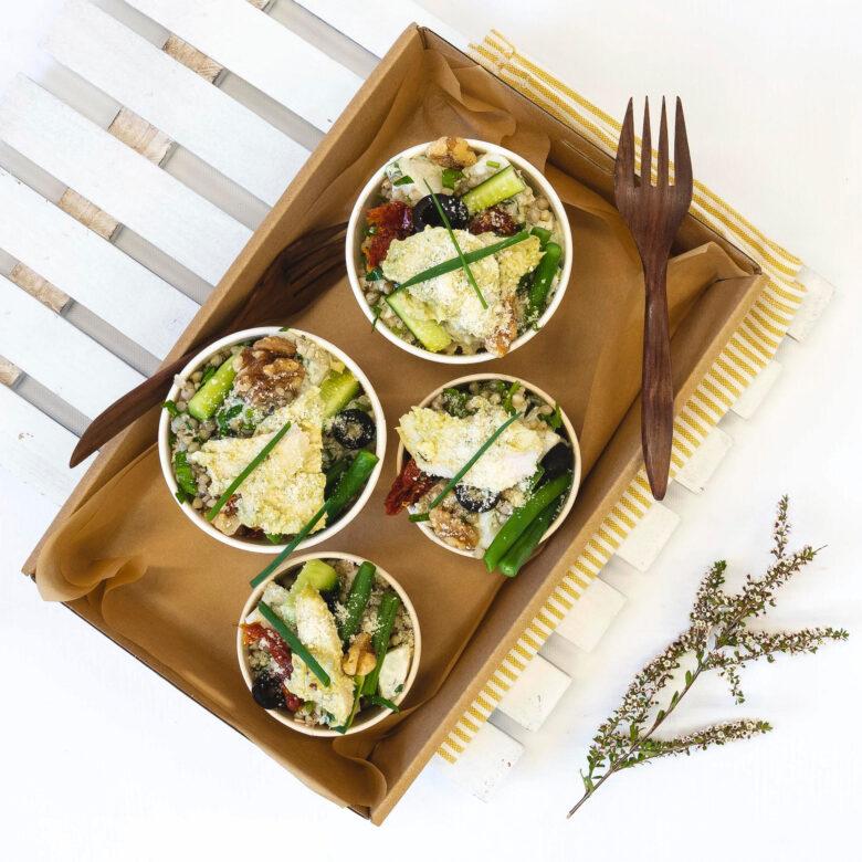 Pesto chicken salad