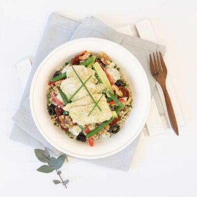 Individual pesto chicken salad