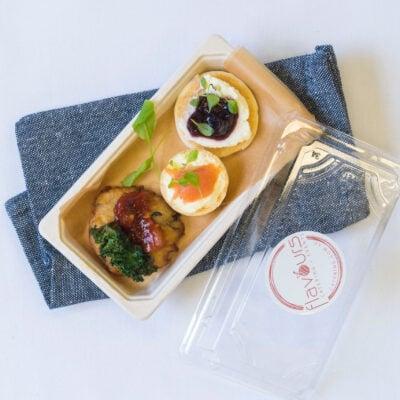 Canape pack 3 - Potato rosti, salmon tart + blini