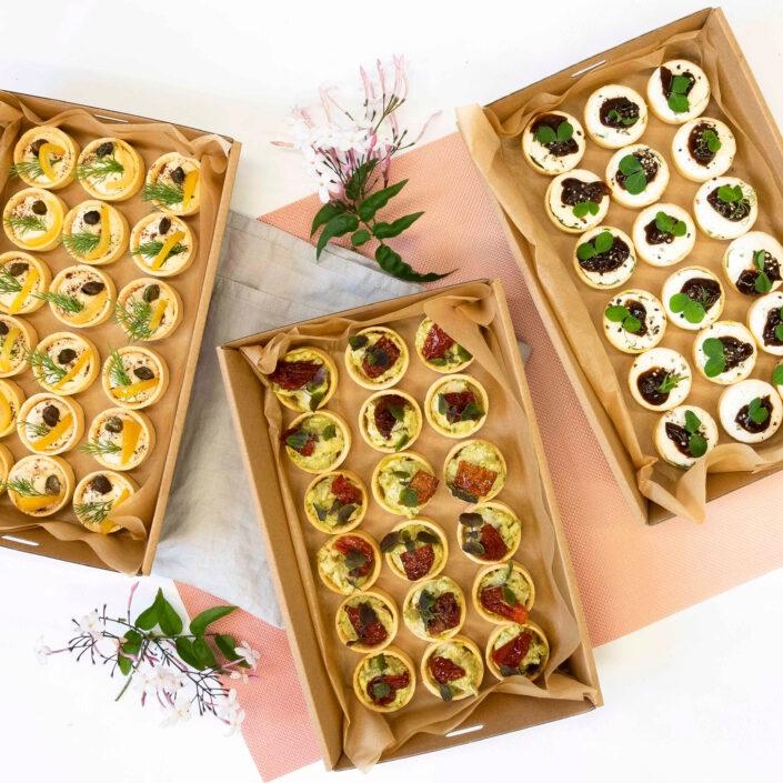 Petite savoury tarts