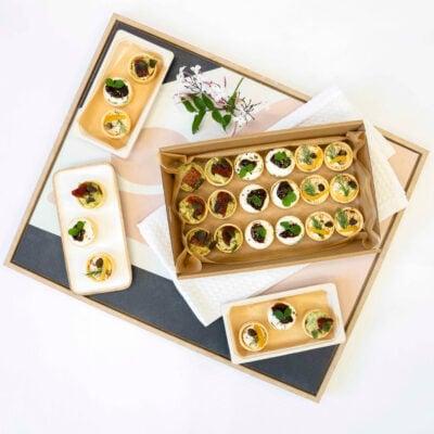 Assorted petite savoury tarts