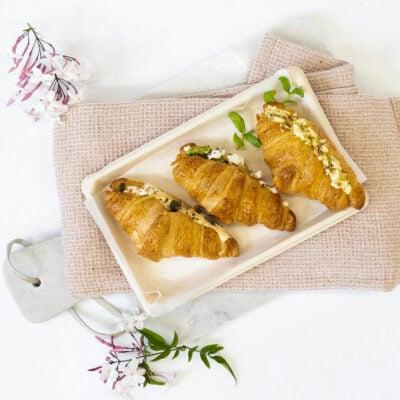 Trio of savoury croissants